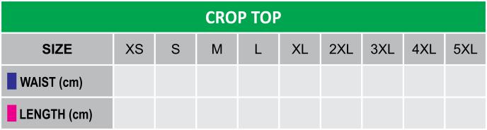Crop Top Size